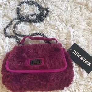 Steve Madden Faux Fur Crossbody Bag